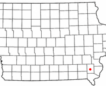 Location of MountPleasant, Iowa