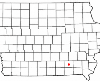 Location of Ottumwa in the state of Iowa