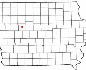 Location of Rockwell City, Iowa
