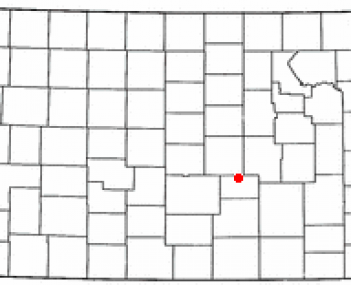 Location of Hesston, Kansas