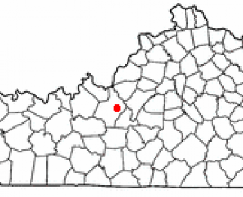 Location of Elizabethtown, Kentucky