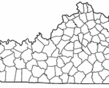 Location of Harlan, Kentucky