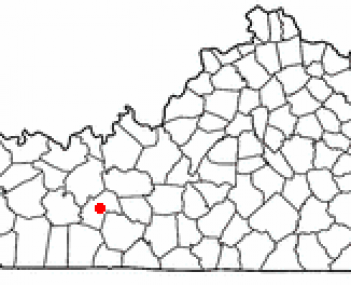 Location of Morgantown within Kentucky.