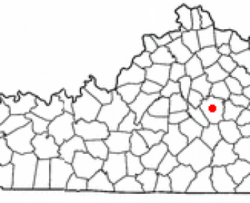 Location of Richmond, Kentucky