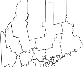 Map of Maine highlighting Sanford