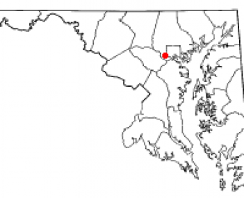 Location of Oella, Maryland