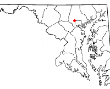 Location of Pikesville, Maryland