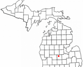 Location of Alma, Michigan