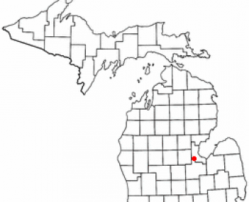 Location of Auburn, Michigan