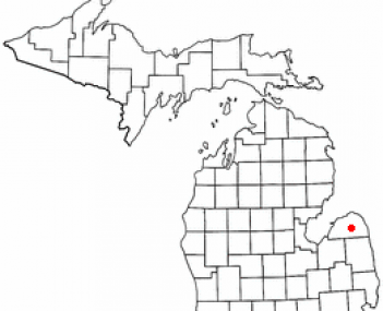 Location of Bad Axe, Michigan