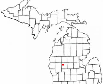 Location of Big Rapids, Michigan
