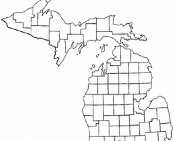 Location of Charlotte, Michigan