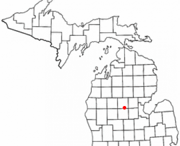 Location of Clare, Michigan