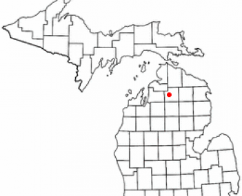 Location of Gaylord, Michigan
