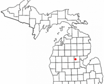 Location of Gladwin, Michigan