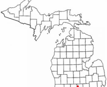 Location of Holt, Michigan