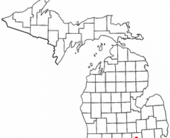 Location of Howell, Michigan