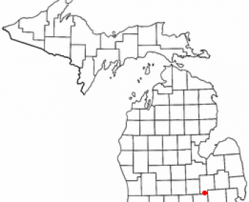 Location of Linden within Genesee County, Michigan