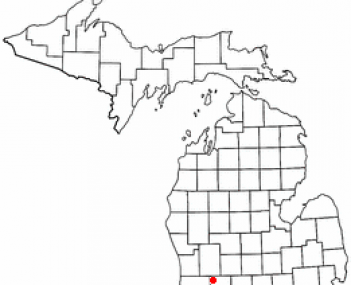 Location of Middleville, Michigan