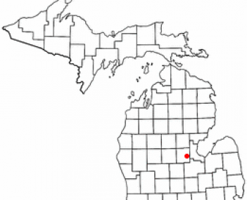 Location of Midland, Michigan