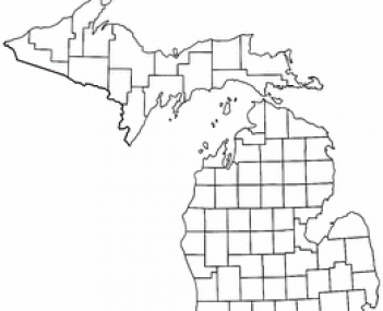 Location of Northville, Michigan