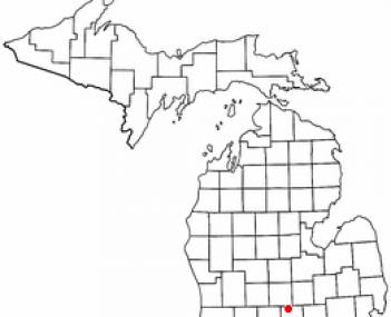 Location of Okemos, Michigan