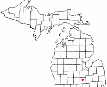 Location of Owosso, Michigan