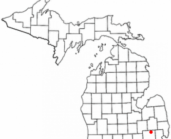Location of Oxford, Michigan