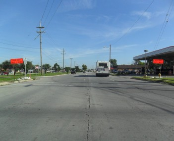 Northbound lanes of Fort Street at Sibley Road in 2011