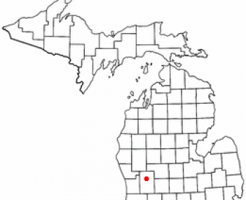 Location of Rockford, Michigan