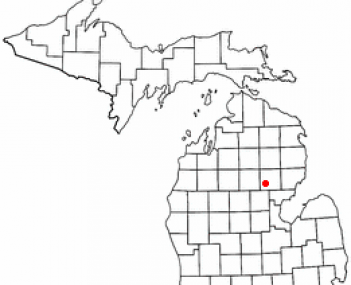 Location of West Branch, Michigan