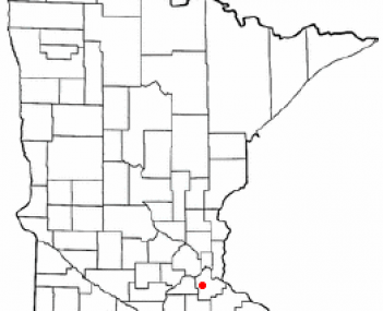 Location of Farmington, Minnesota