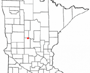 Location of Staples, Minnesota
