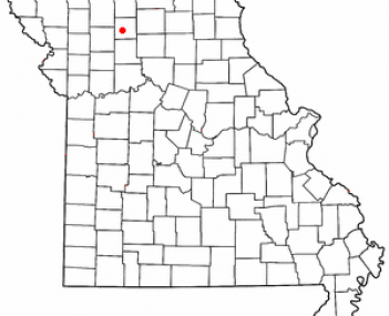 Location of Trenton, Missouri