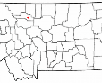 Location of Conrad, Montana