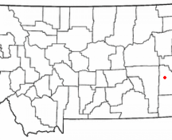 Location of Miles City, Montana