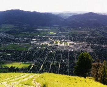Missoula from mt sentinel