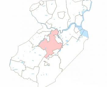 Location of East Brunswick Township in Middlesex County.