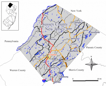 Map of Newton in Sussex County