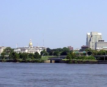 Downtown Trenton on the Delaware River