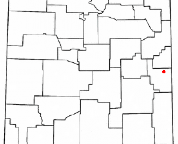 Location of Portales, New Mexico