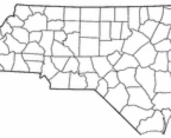 Location of Hendersonville, North Carolina