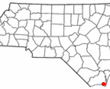 Location of Southport, North Carolina