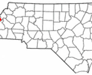 Location of Spruce Pine, North Carolina