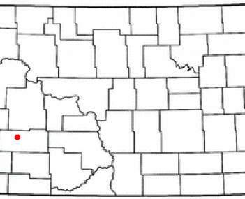 Location of Dickinson, North Dakota