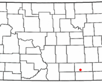 Location of Edgeley, North Dakota