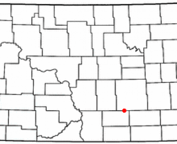 Location of Gackle, North Dakota