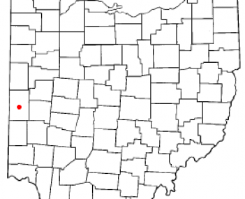 Location of Greenville, Ohio