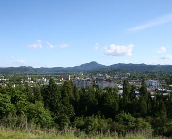 Downtown Eugene as seen from Skinner Butte
