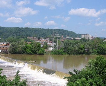 View of Beaver Falls, from the borough of New Brighton.